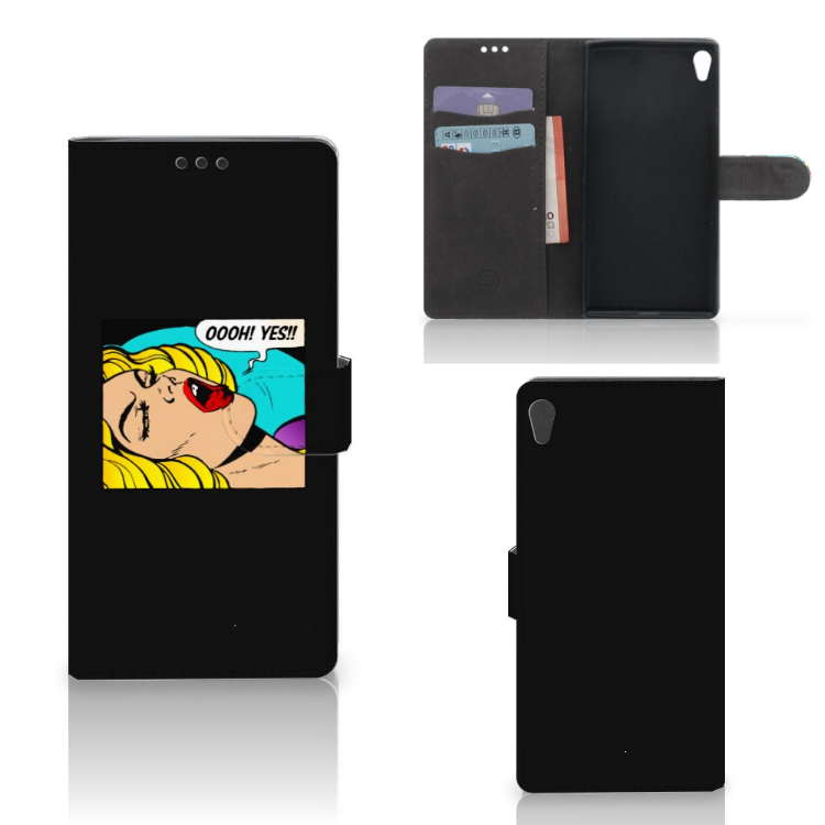 Sony Xperia XA Ultra Wallet Case met Pasjes Popart Oh Yes