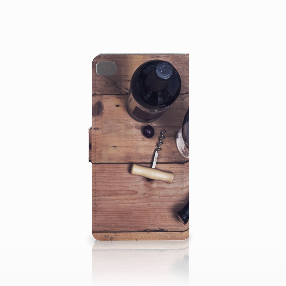 Huawei P8 Book Cover Wijn