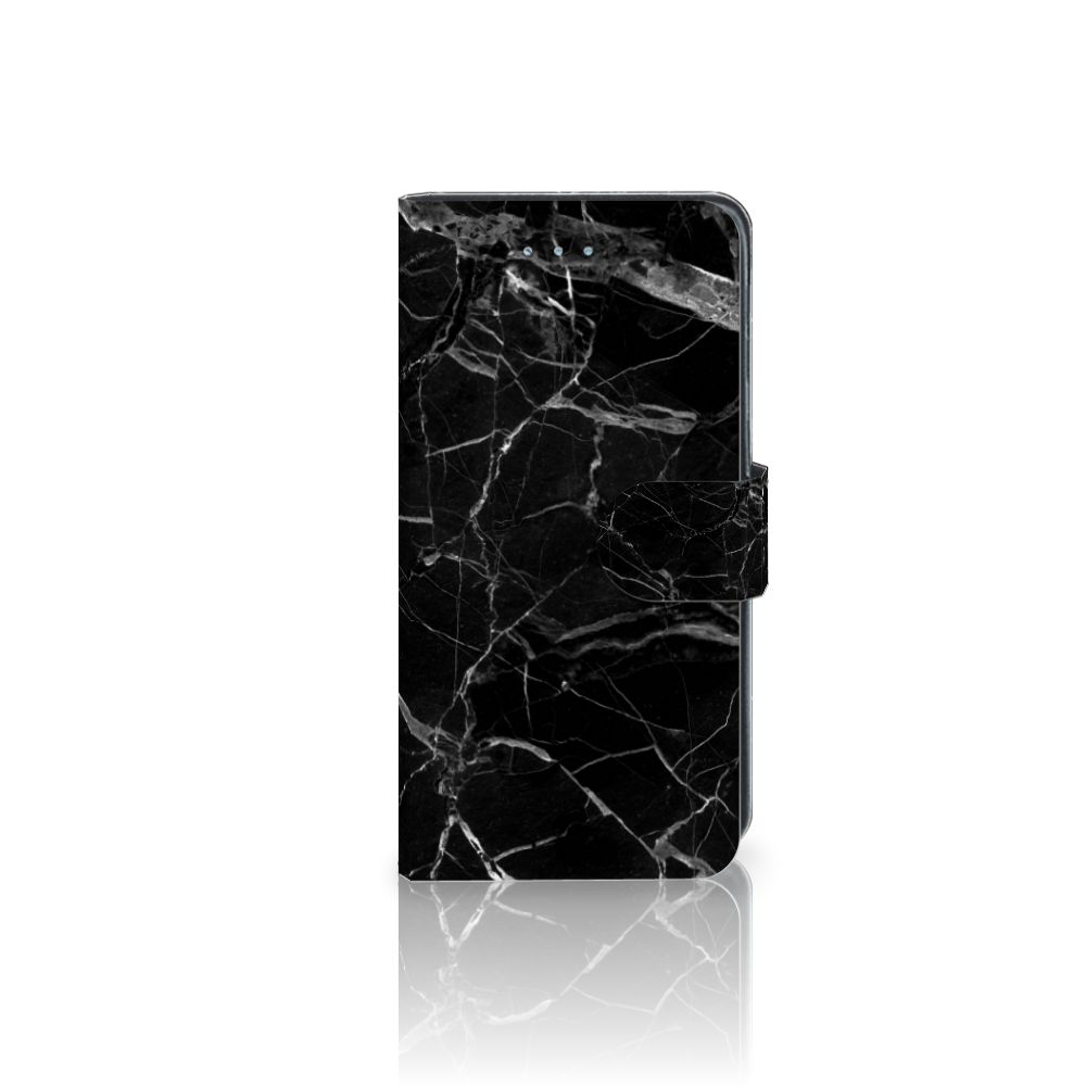 Samsung Galaxy J3 2016 Bookcase Marmer Zwart