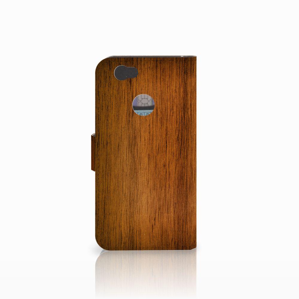 Huawei Nova Book Style Case Donker Hout