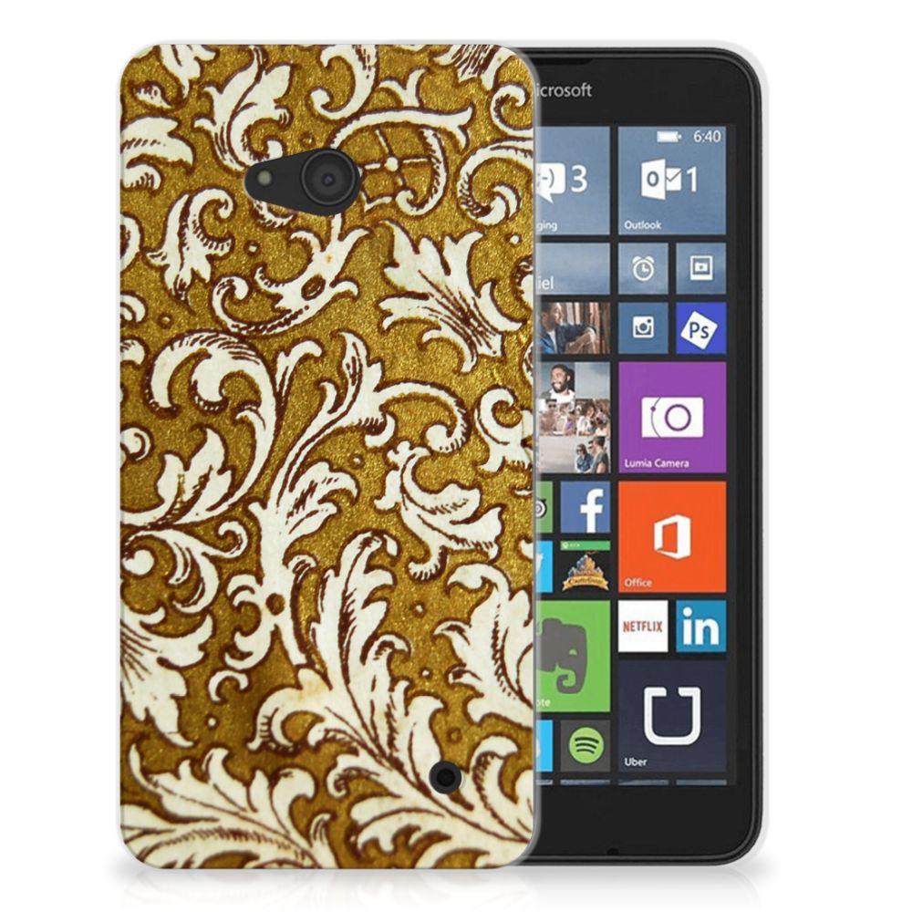 Siliconen Hoesje Microsoft Lumia 640 Barok Goud