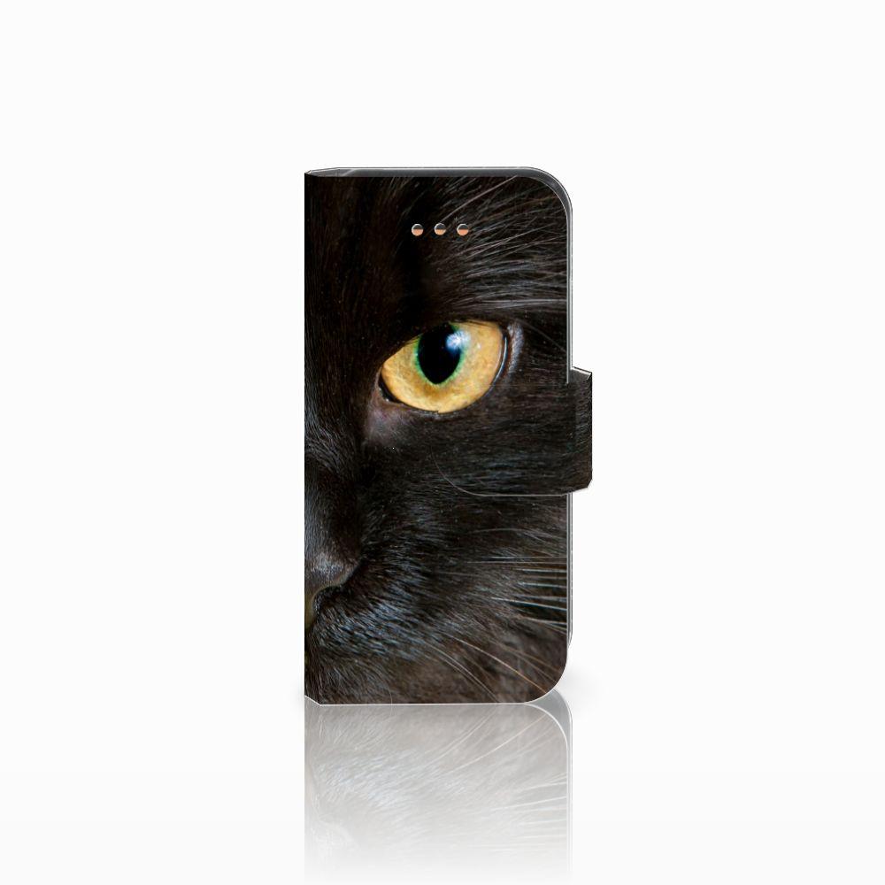 Apple iPhone 5C Uniek Boekhoesje Zwarte Kat