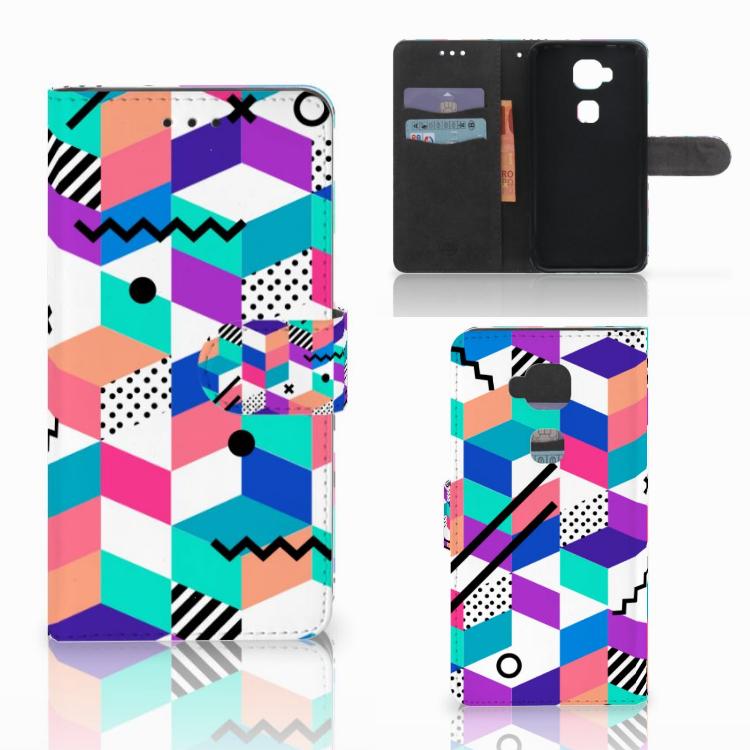 Huawei G8 Bookcase Blokken Kleurrijk