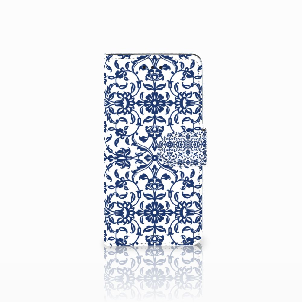Huawei Y5 2018 Hoesje Flower Blue