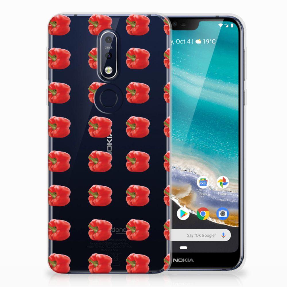 Nokia 7.1 Siliconen Case Paprika Red
