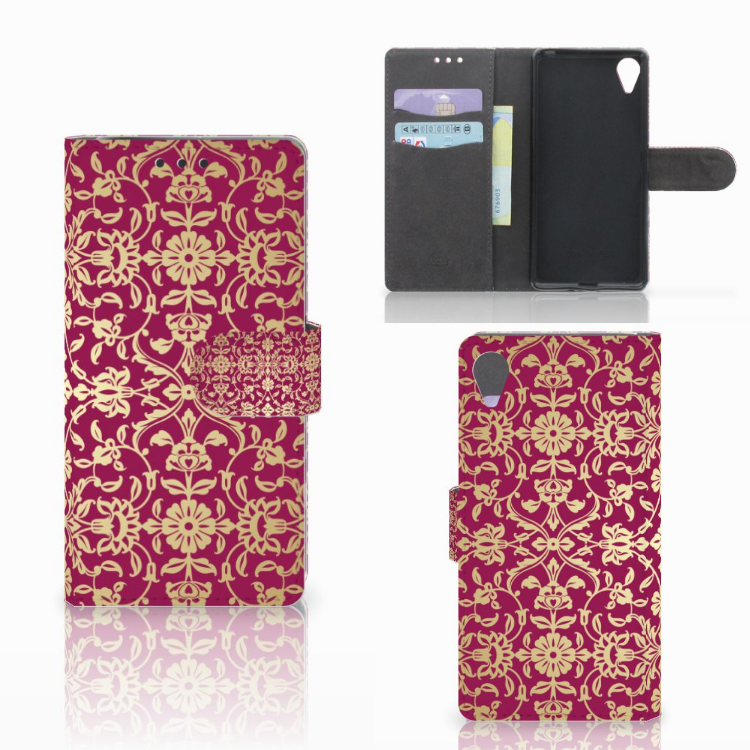 Wallet Case Sony Xperia X Performance Barok Pink