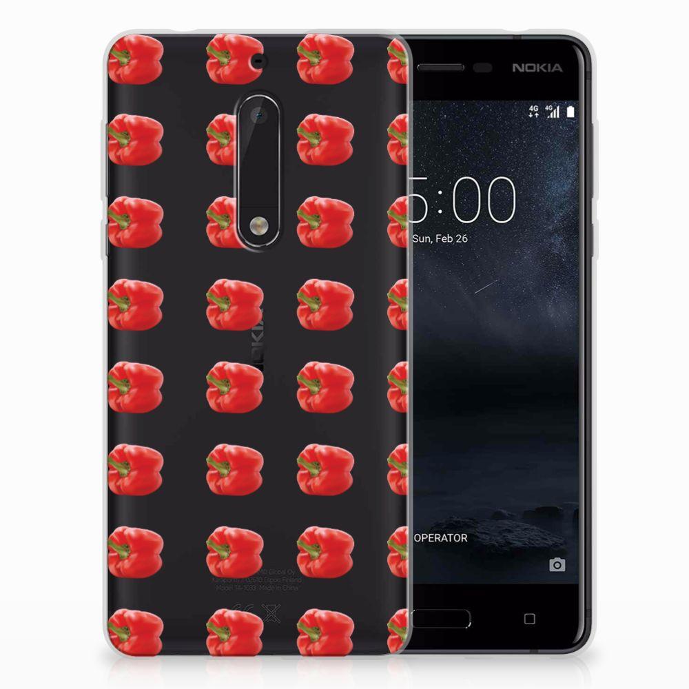 Nokia 5 Siliconen Case Paprika Red