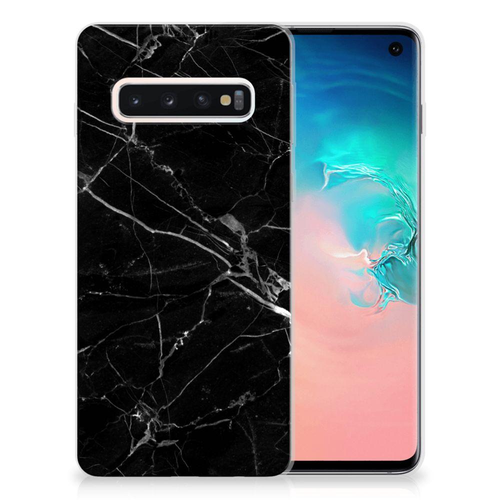 Samsung Galaxy S10 Uniek TPU Hoesje Marmer Zwart