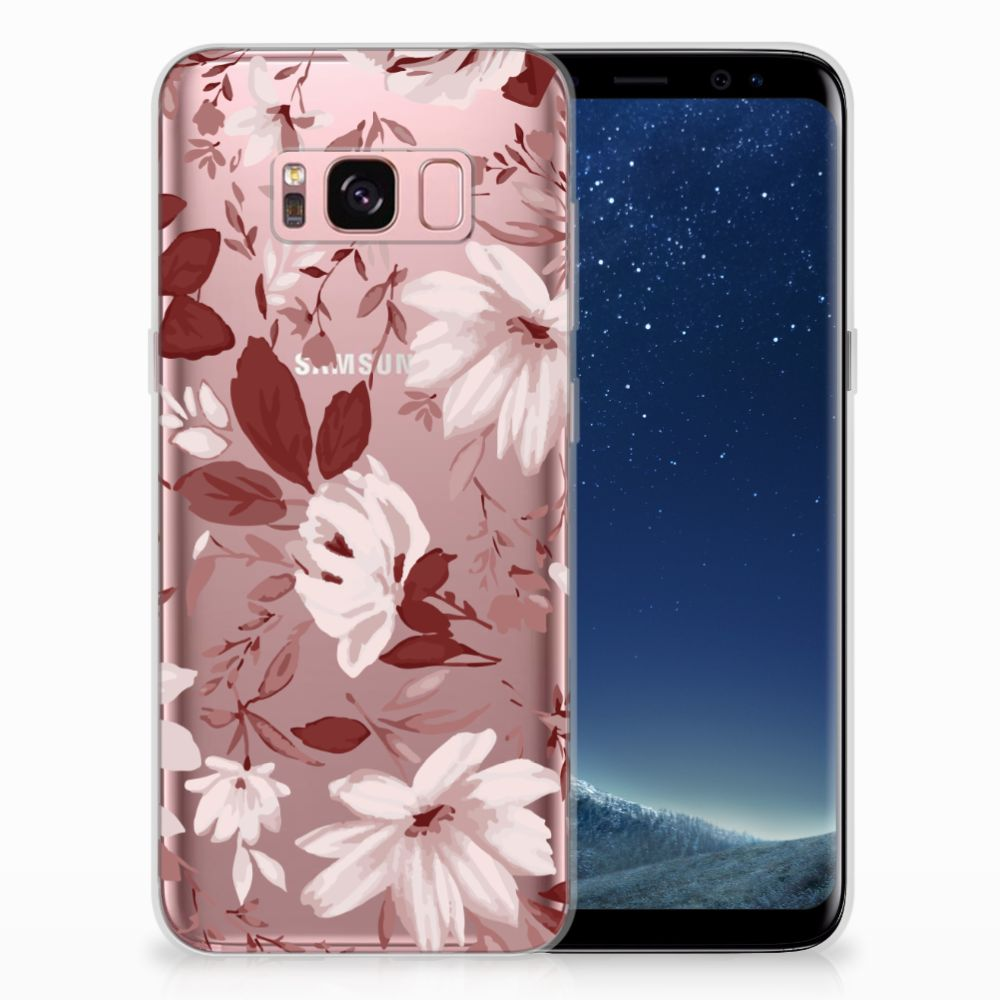 Samsung Galaxy S8 Uniek TPU Hoesje Watercolor Flowers