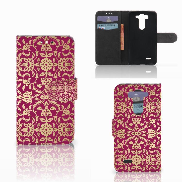 Wallet Case LG G3 S Barok Pink