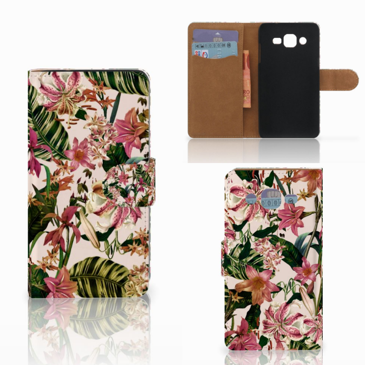 Samsung Galaxy J2 (2015) Hoesje Flowers