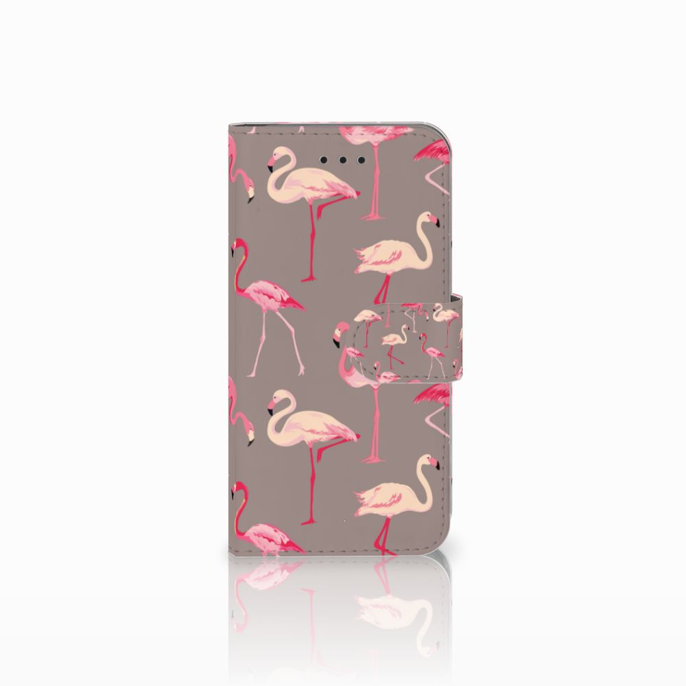 Apple iPhone X | Xs Uniek Boekhoesje Flamingo