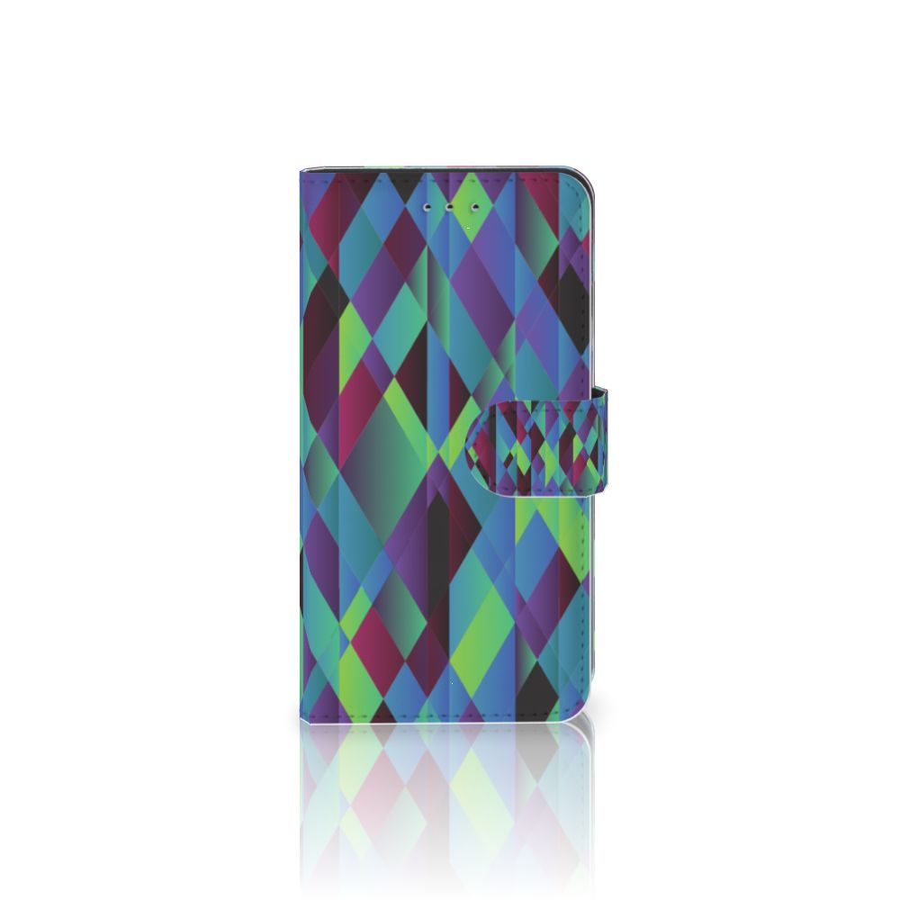 Samsung Galaxy J4 2018 Bookcase Abstract Green Blue