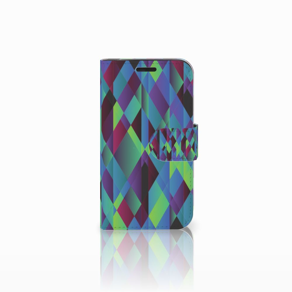 LG K4 Bookcase Abstract Green Blue