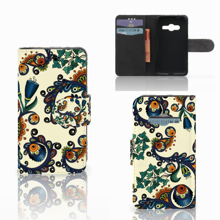 Wallet Case Samsung Galaxy Trend 2 Barok Flower