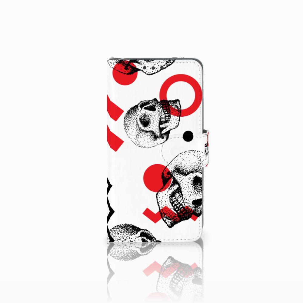 Telefoonhoesje met Naam Huawei Y5 2 | Y6 II Compact Skull Red
