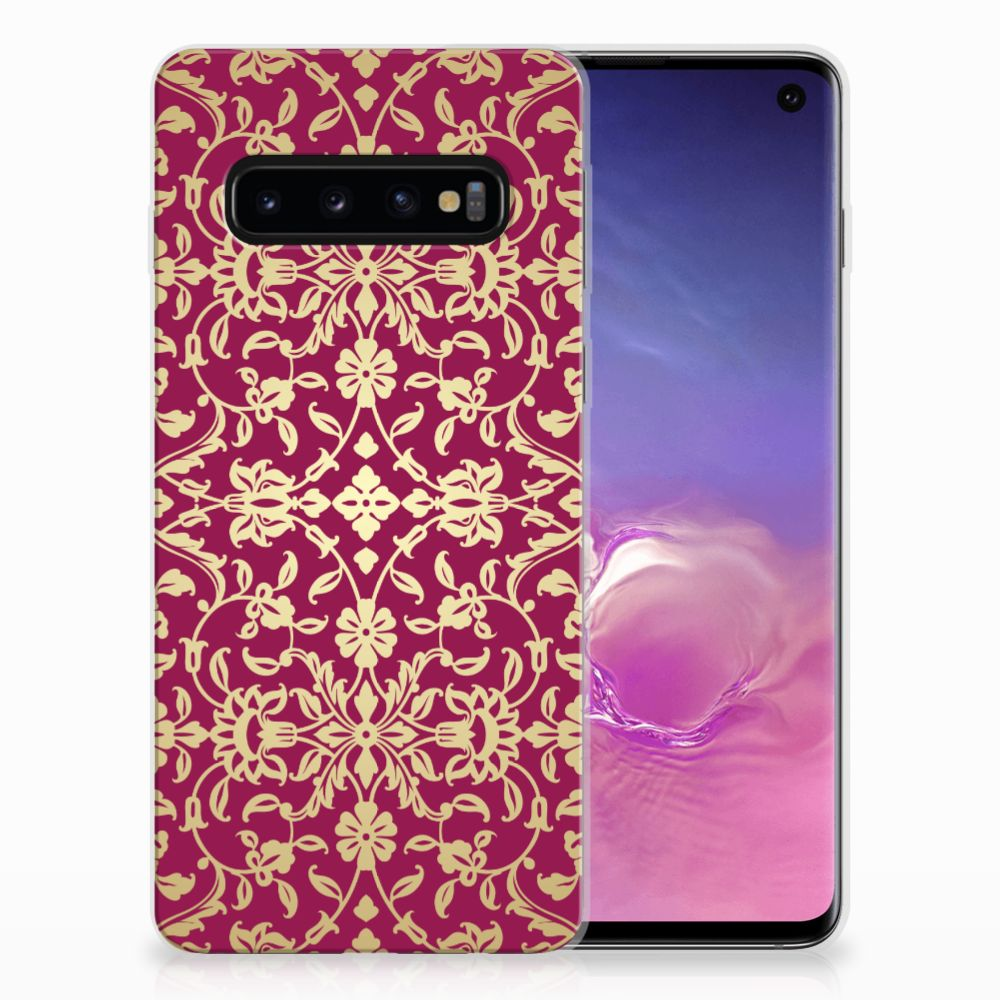 Siliconen Hoesje Samsung Galaxy S10 Barok Pink