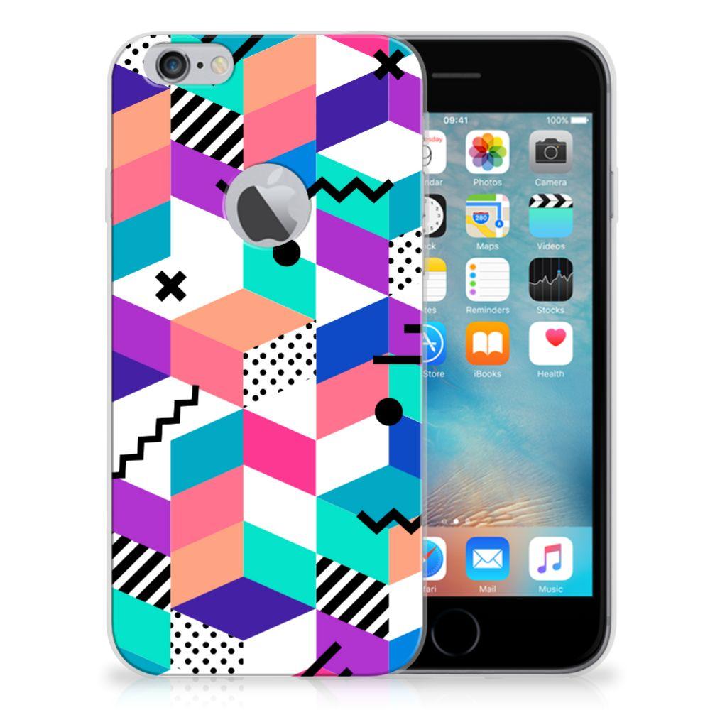 Apple iPhone 6 Plus | 6s Plus TPU Hoesje Blokken Kleurrijk