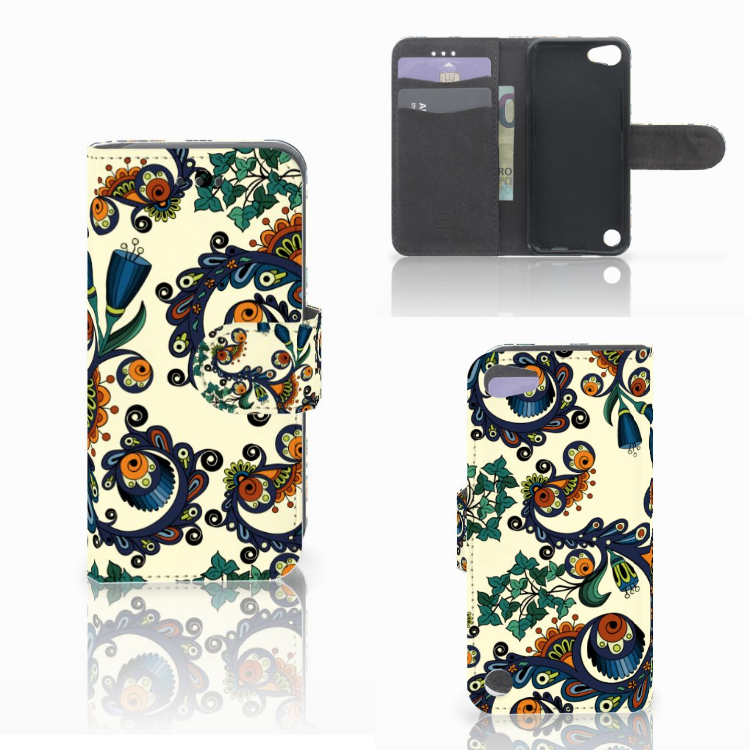 Wallet Case Apple iPod Touch 5 | 6 | iPod (2019) Barok Flower