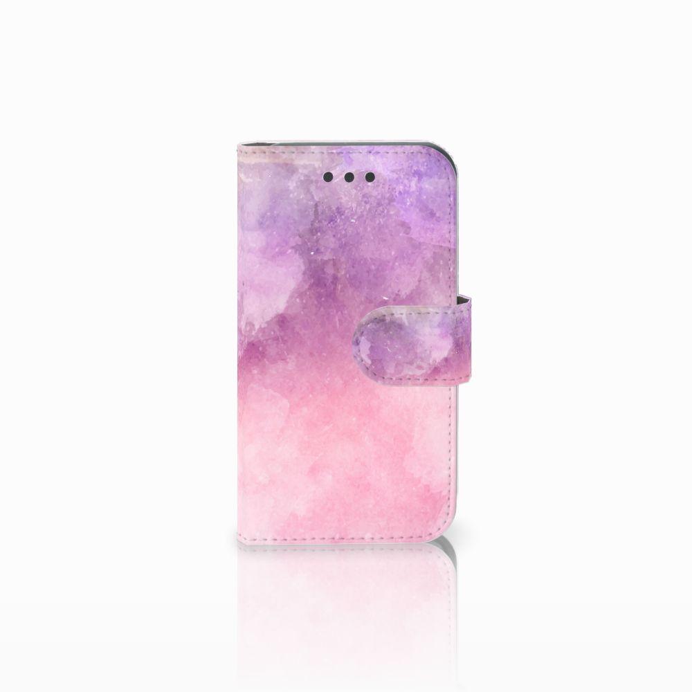 Samsung Galaxy Core 2 Boekhoesje Design Pink Purple Paint