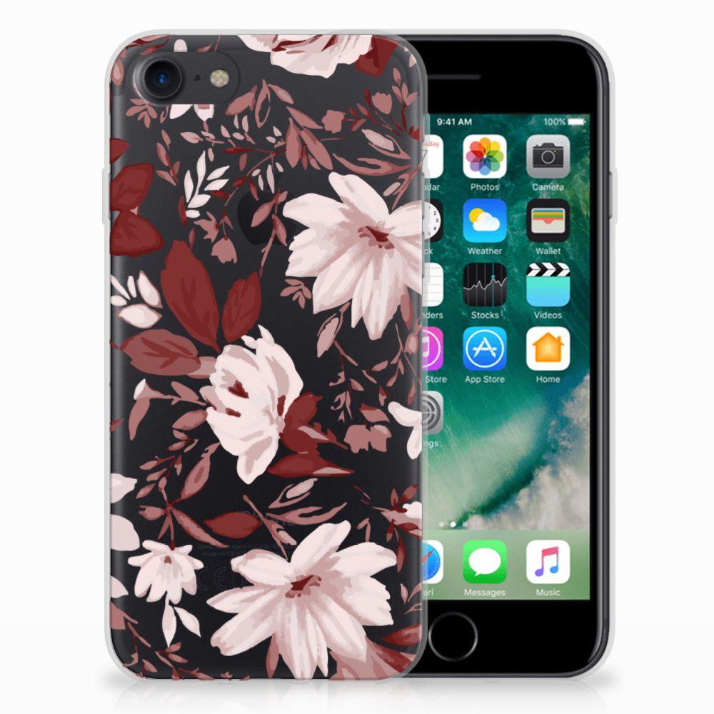 Hoesje maken Apple iPhone 7 | 8 Watercolor Flowers