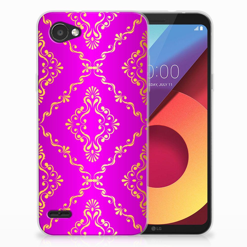 LG Q6 | LG Q6 Plus Uniek TPU Hoesje Barok Roze