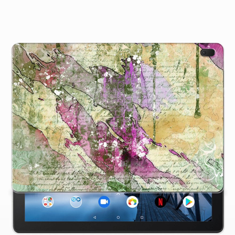 Tablethoes Lenovo Tab E10 Letter Painting