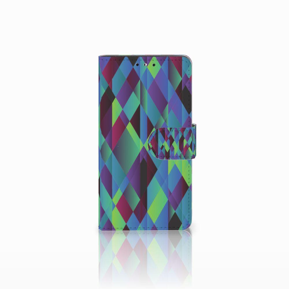 Huawei Y5 | Y6 2017 Boekhoesje Design Abstract Green Blue
