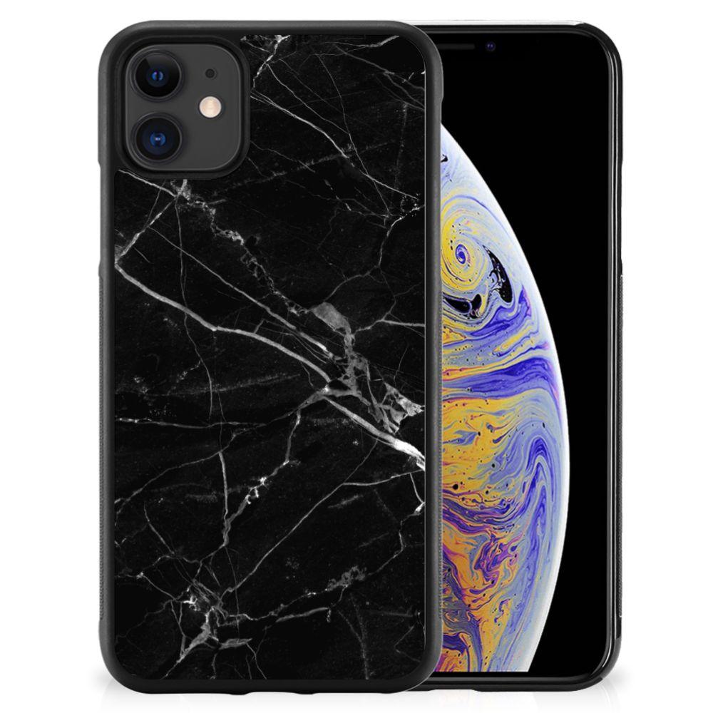 Apple iPhone 11 Gripcase Marmer Zwart - Origineel Cadeau Vader