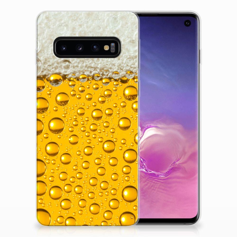 Samsung Galaxy S10 Siliconen Case Bier
