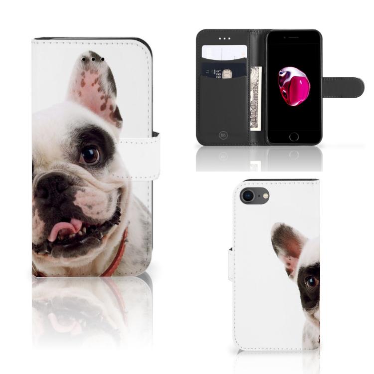 iPhone 7 | 8 | SE (2020) Telefoonhoesje met Pasjes Franse Bulldog