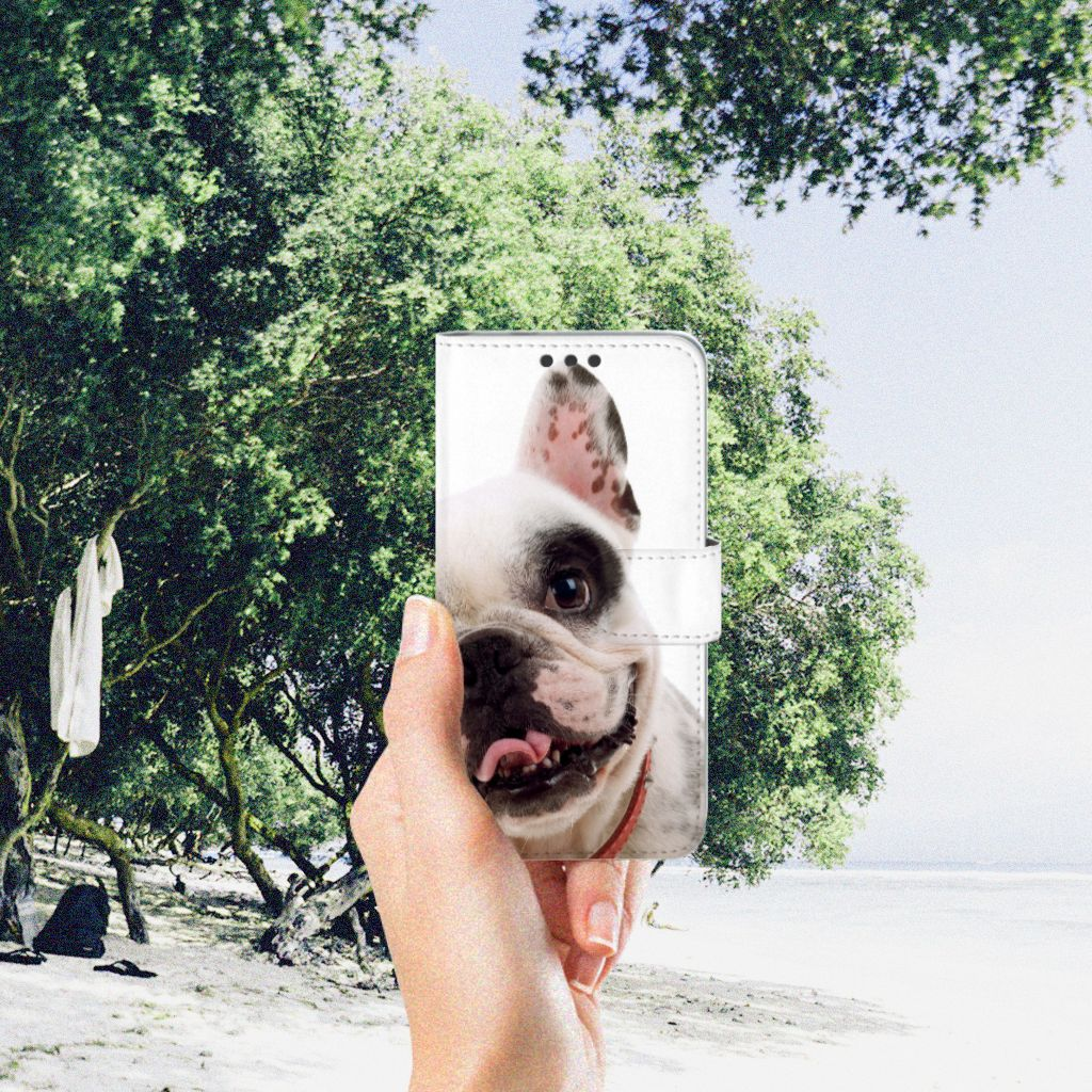 Microsoft Lumia 650 Telefoonhoesje met Pasjes Franse Bulldog
