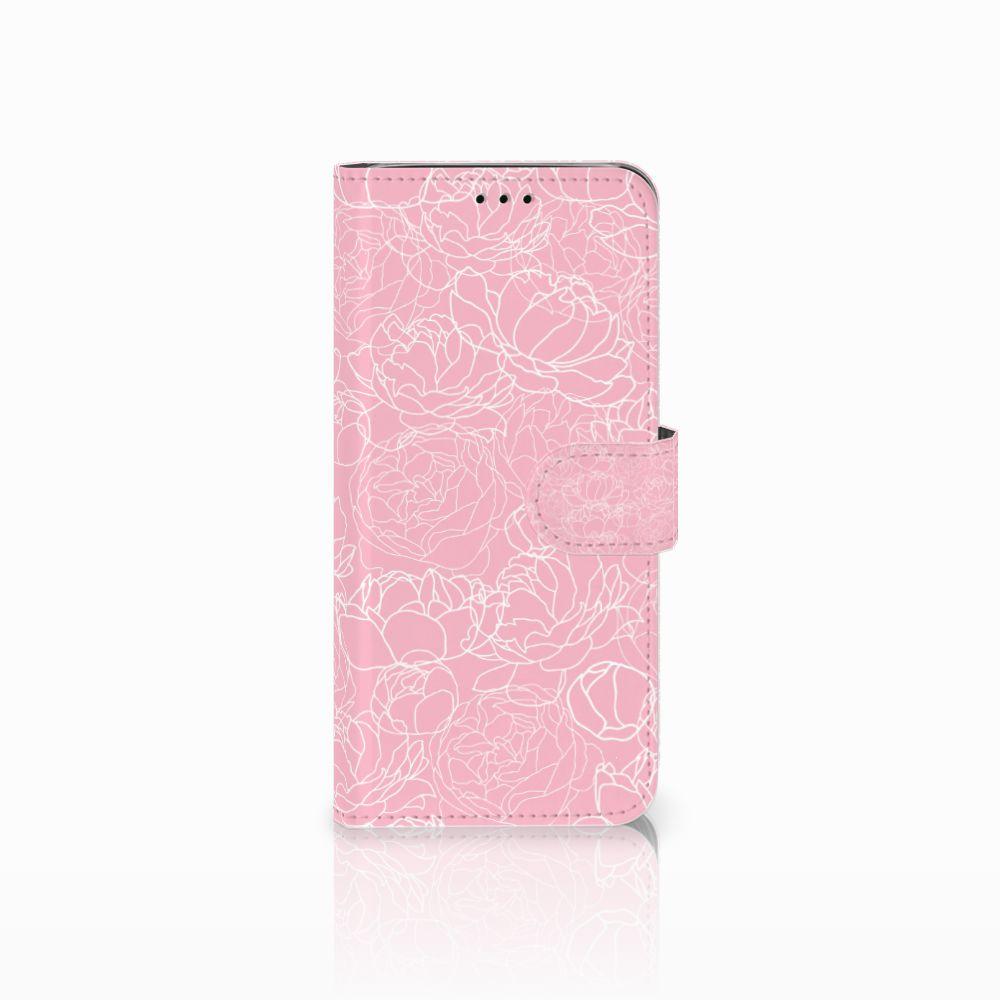 Samsung Galaxy J6 2018 Boekhoesje Design White Flowers