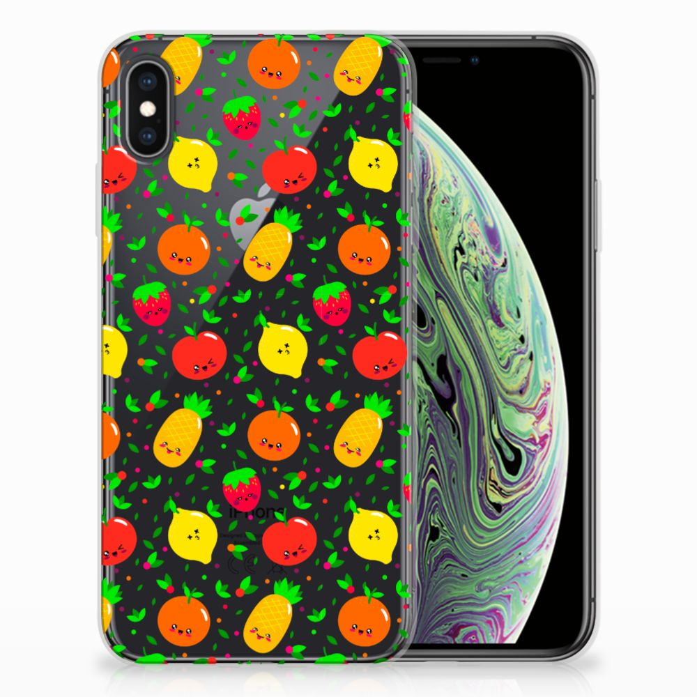 Apple iPhone Xs Max Siliconen Case Fruits