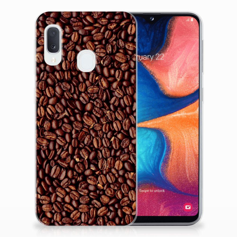 Samsung Galaxy A20e Siliconen Case Koffiebonen