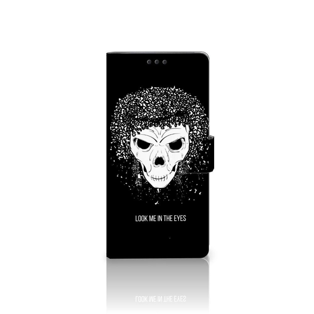 Sony Xperia XA Ultra Uniek Boekhoesje Skull Hair