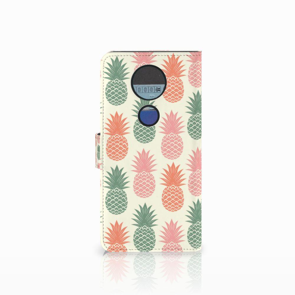 Motorola Moto E5 Plus Book Cover Ananas