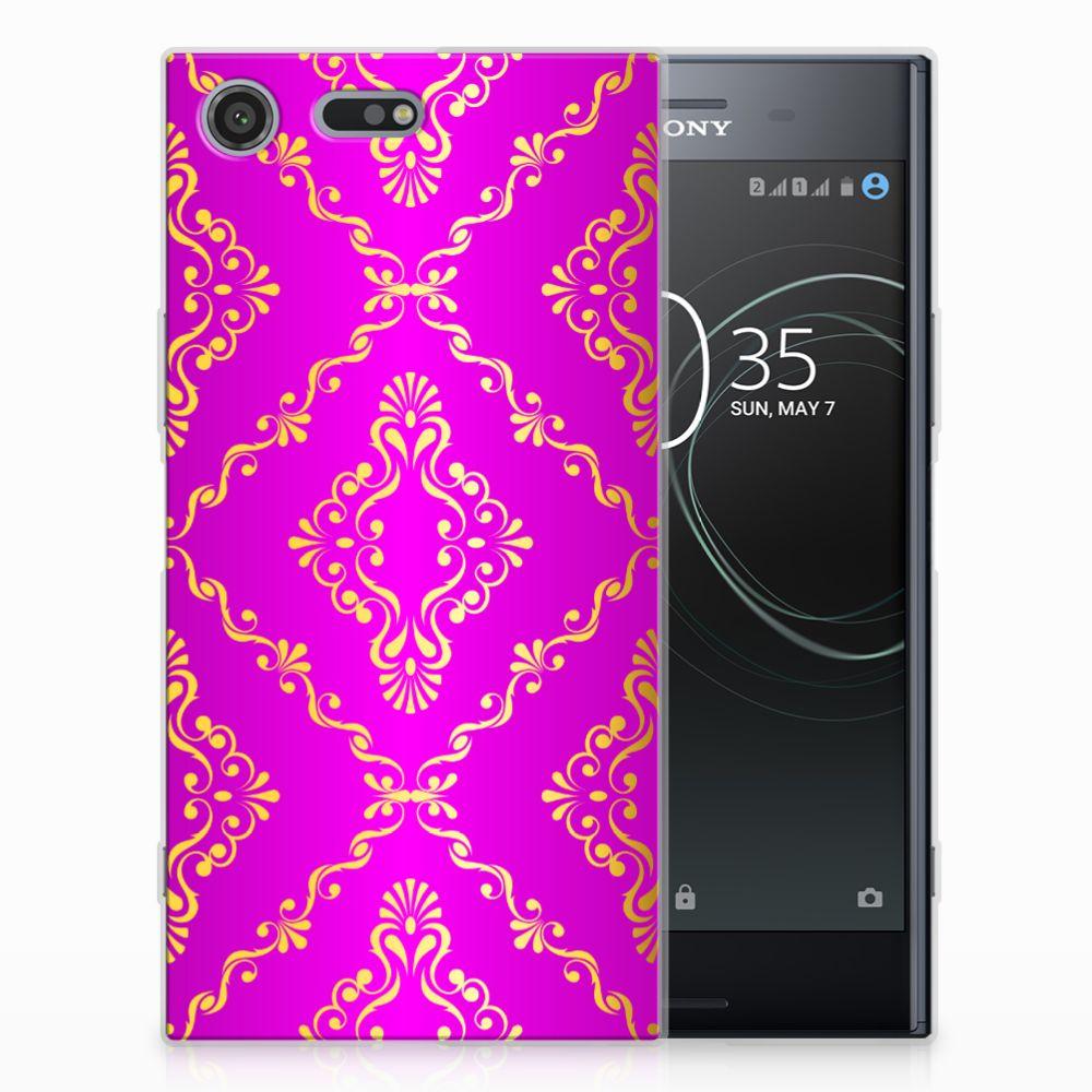 Siliconen Hoesje Sony Xperia XZ Premium Barok Roze