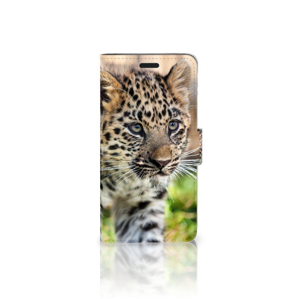 HTC 10 Uniek Boekhoesje Baby Luipaard