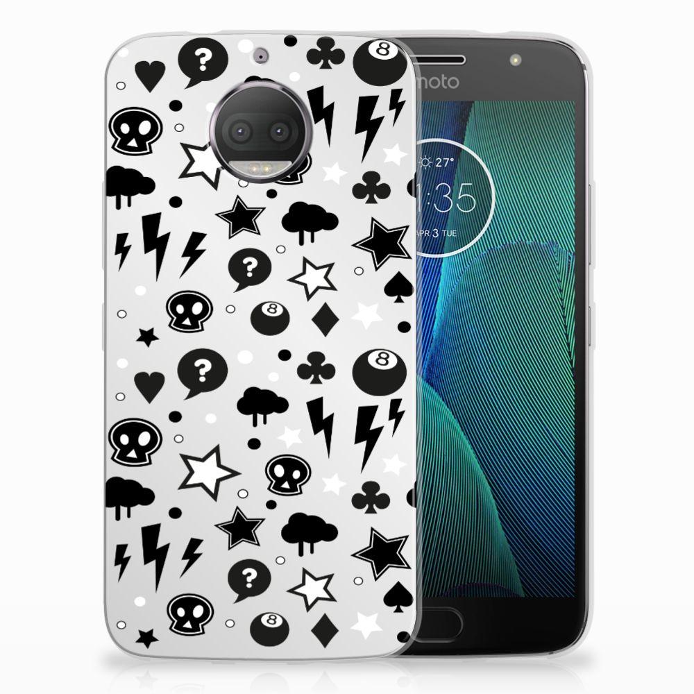 Motorola Moto G5S Plus Uniek TPU Hoesje Silver Punk
