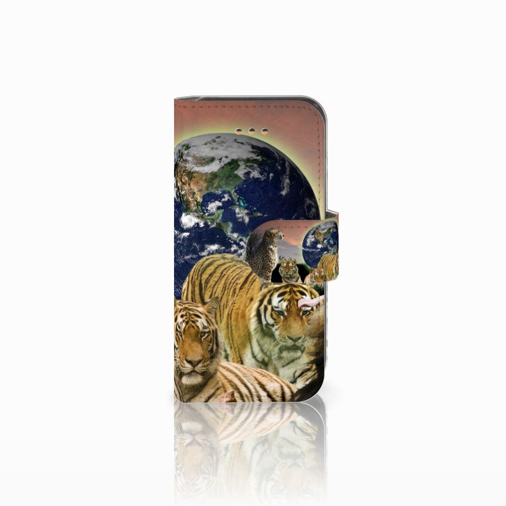 Apple iPhone 5C Telefoonhoesje met Pasjes Roofdieren