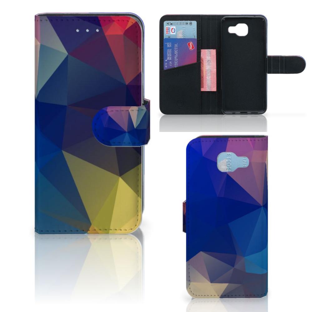 Samsung Galaxy A5 2016 Bookcase Polygon Dark