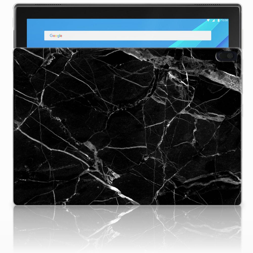 Lenovo Tab 4 10.1 Tablet Back Cover Marmer Zwart