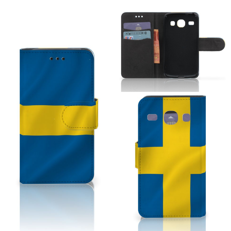 Samsung Galaxy Core i8260 Bookstyle Case Zweden