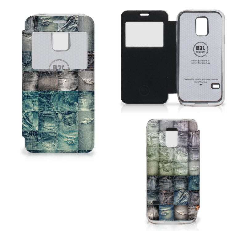 Wallet Case met Pasjes Samsung Galaxy S5 Mini Spijkerbroeken