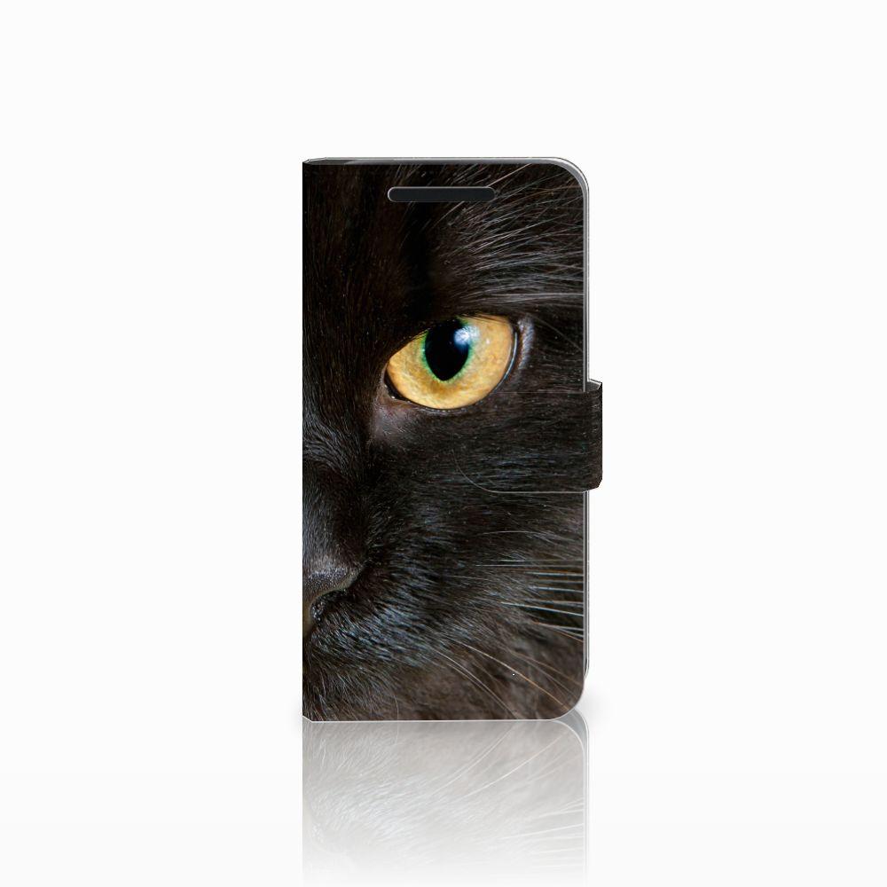 HTC One M9 Uniek Boekhoesje Zwarte Kat