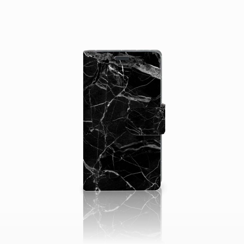 Nokia Lumia 625 Uniek Boekhoesje Marmer Zwart