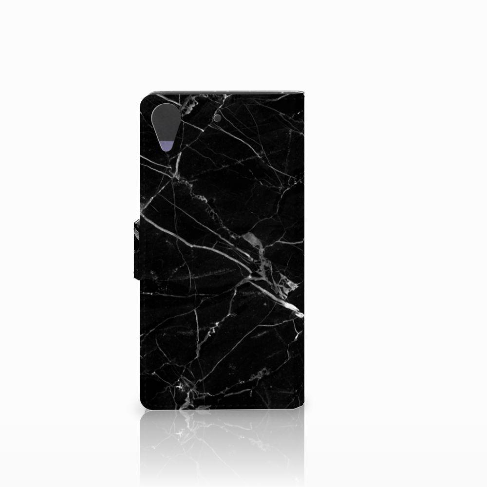 HTC Desire 628 Bookcase Marmer Zwart