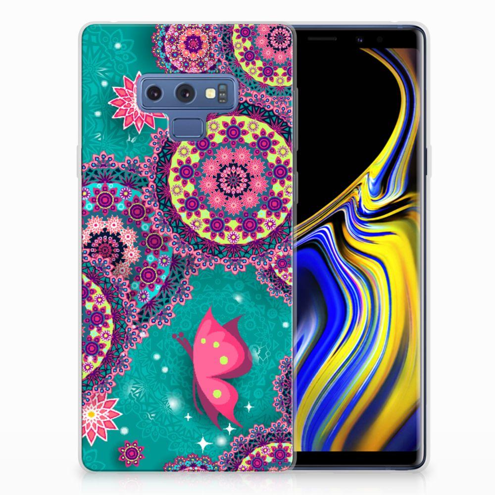 Samsung Galaxy Note 9 Hoesje maken Cirkels en Vlinders