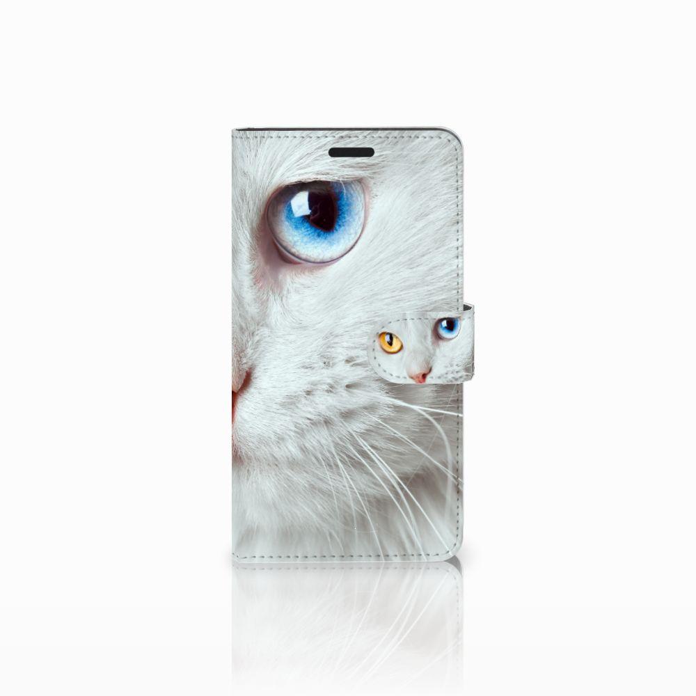 Sony Xperia T3 Uniek Boekhoesje Witte Kat